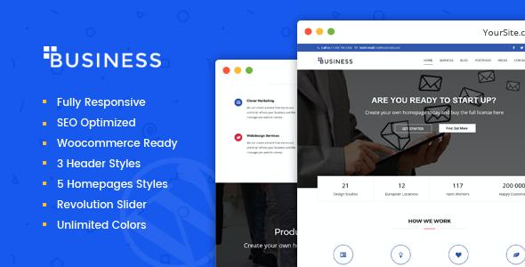 Test du thème WordPress Business , voici notre avis