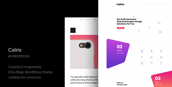 test Caliris - Responsive One Page WordPress Theme