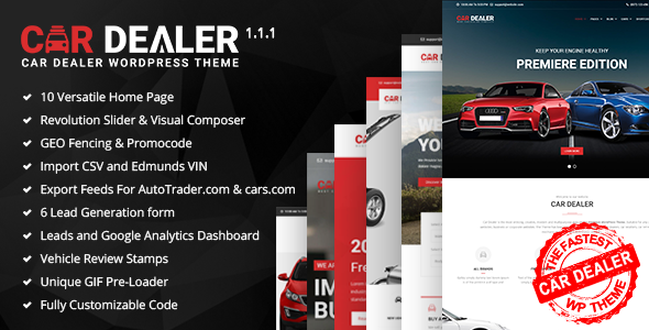 Test du thème WordPress Car Dealer , voici notre avis