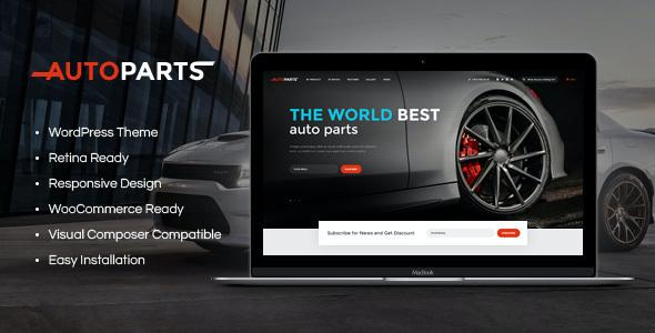 Test du thème WordPress Car Parts Store , découvrez notre avis