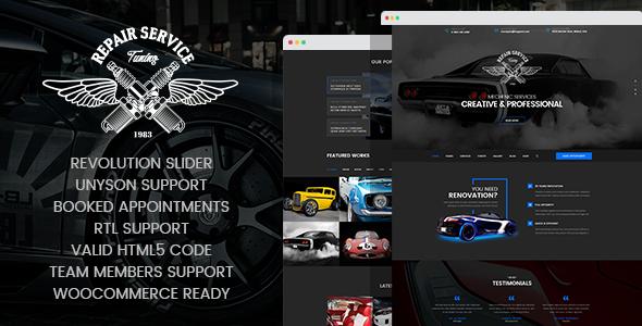 Test du thème WordPress CarRepair , voici notre avis