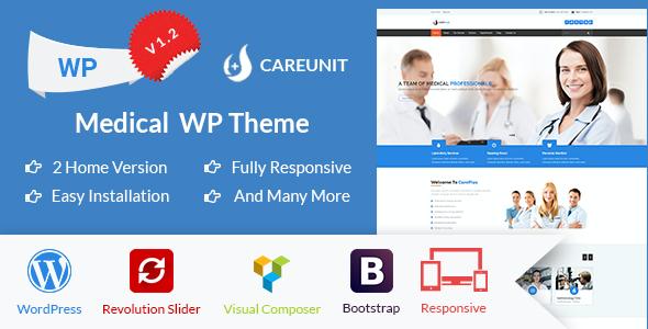 Test du thème WordPress Careunit , découvrez notre avis