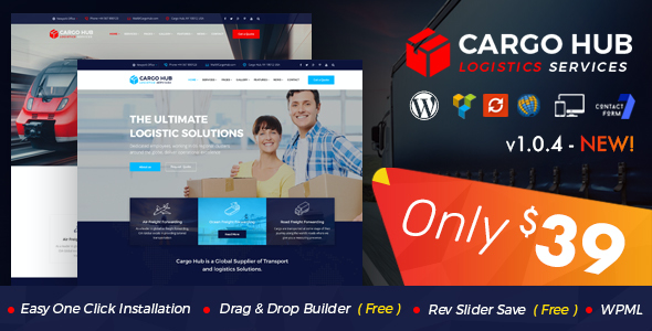 test Cargo HUB - Transport WordPress Theme for Transportation, Logistics and Shipping Companies