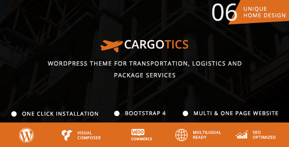 test Cargotics - WordPress Theme For Transportation, Logistics and Package Services