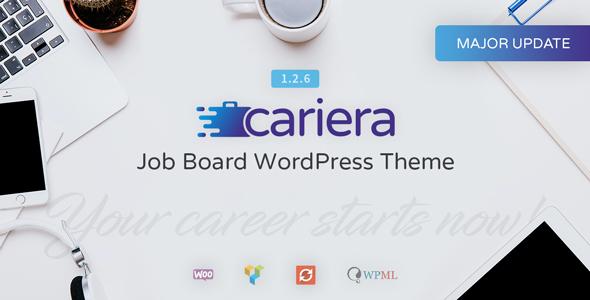 Test du thème WordPress Cariera , voici notre avis