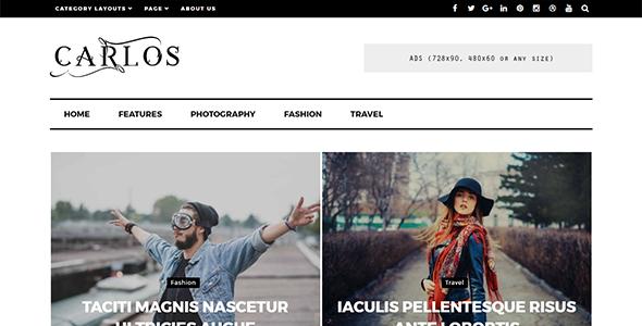 Test du thème WordPress Carlos , voici notre avis