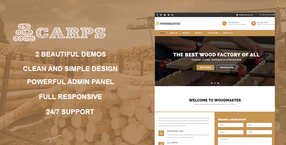 test Carps - Wood Carpentry WordPress Theme