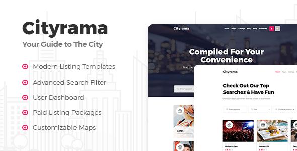 Test du thème WordPress Cityrama , voici notre avis