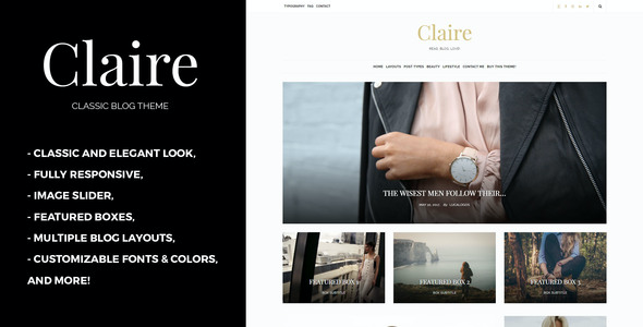 test Claire - Classic WordPress Blog Theme