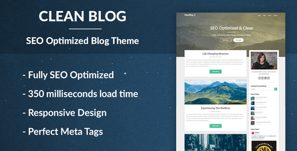test Clean Blog - SEO Optimized WordPress Theme