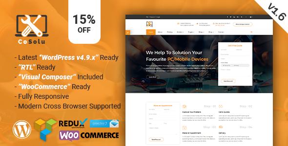 Test du thème WordPress CoSolu , voici notre avis