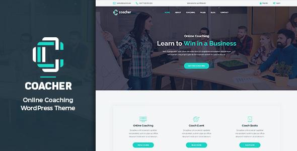 Test du thème WordPress Coacher , voici notre avis