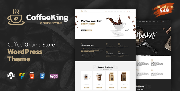 test Coffee King - Coffee Shop, Coffee House and Online Store WordPress Theme