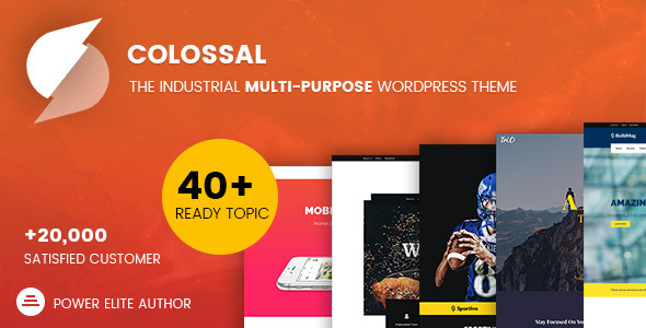 test Colossal - Industrial multi-purpose WordPress Theme