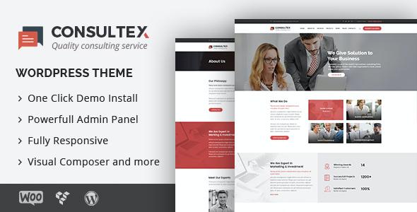 Test du thème WordPress Consultex , découvrez notre avis