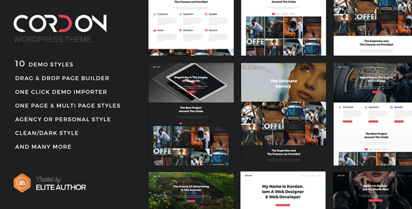 test Cordon - Responsive One Page & Multi Page Portfolio Theme