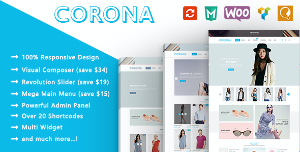 test Corona - Fashion Responsive WooCommerce WordPress Theme
