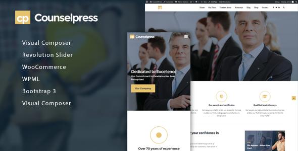 Test du thème WordPress CounselPress , voici notre avis