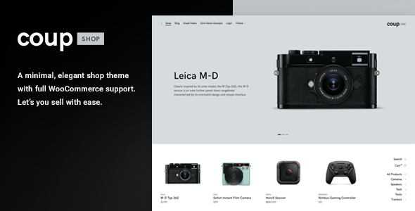 test Coup Shop - E-commerce WordPress theme
