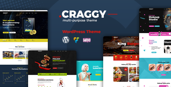 test Craggy - Food Delivery, Services & Bitcoin Crypto Currency Multi-purpose WordPress Theme