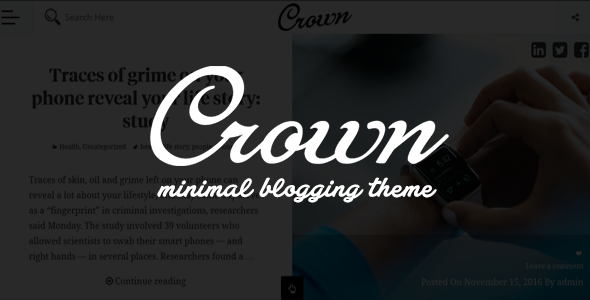 test Crown - Minimal Blogging Theme