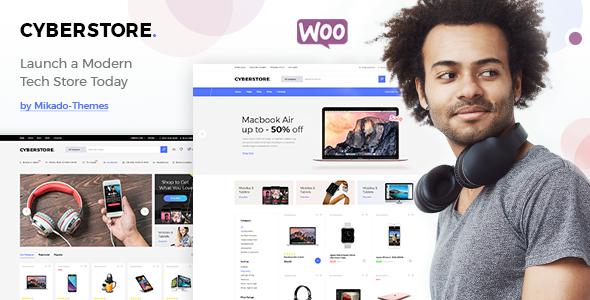 Test du thème WordPress CyberStore , découvrez notre avis
