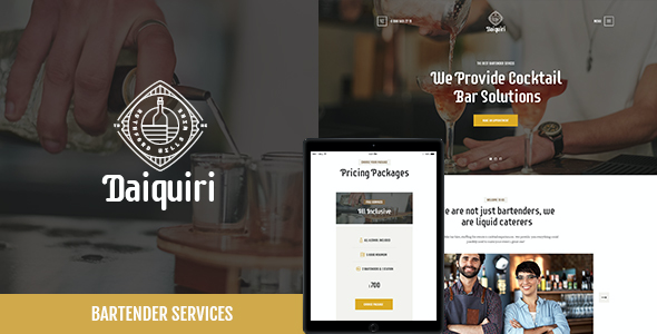 test Daiquiri | Bartender Services & Catering WP Theme