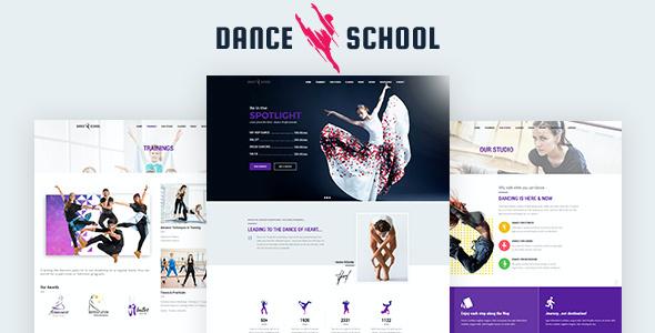 Test du thème WordPress Dance School , découvrez notre avis