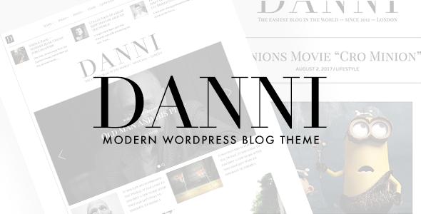 Test du thème WordPress Danni , découvrez notre avis