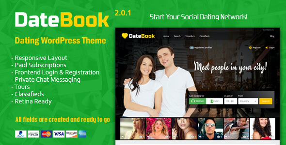 test DateBook - Dating WordPress Theme