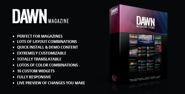 Test du thème WordPress Dawn Magazine Theme , voici notre avis