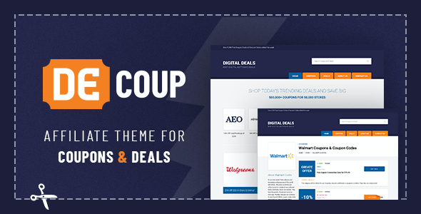 test DeCoup - WordPress Theme for Coupons and Deals