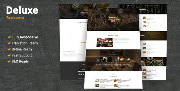 test Deluxe Restaurant WordPress Theme