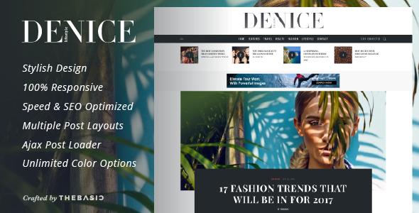 Test du thème WordPress Denice , voici notre avis