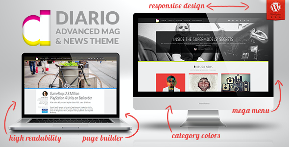 test Diario: Modern and Responsive Magazine / Newspaper WordPress Theme