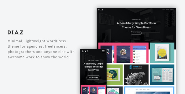 test Diaz- A Lightweight WordPress Portfolio Theme