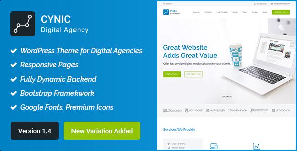 Test du thème WordPress Digital Agency WordPress Theme , voici notre avis