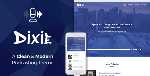 test Dixie - Podcast and Audio WordPress Theme