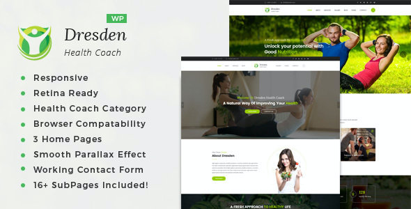 test Dresden - WordPress Theme for Fitness and Life Coaching Website