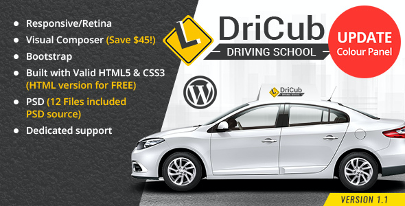 test DriCub - Driving School WordPress Theme