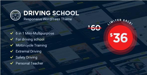 Test du thème WordPress Driving School , voici notre avis