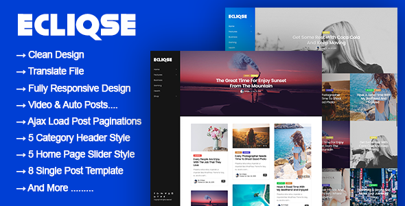 test Ecliqse - WordPress Blog Magazine Theme