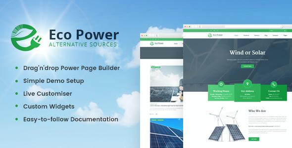 Test du thème WordPress EcoPower , découvrez notre avis