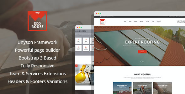 test Eco Roofs - Roofing Renovation WordPress Theme