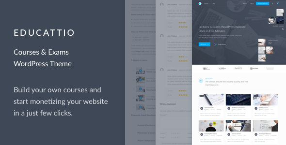 test Educattio - Courses & Exams WordPress Theme
