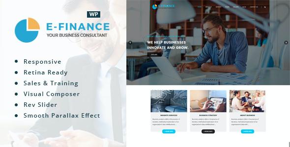 Test du thème WordPress Efinance , voici notre avis