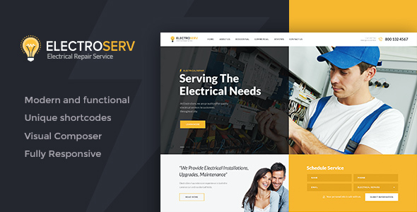 Test du thème WordPress ElectroServ , découvrez notre avis