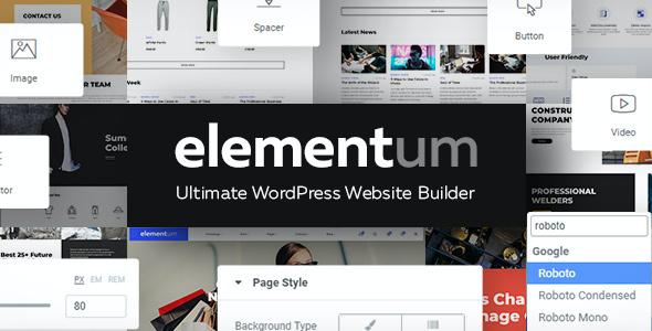 Test du thème WordPress Elementum , découvrez notre avis