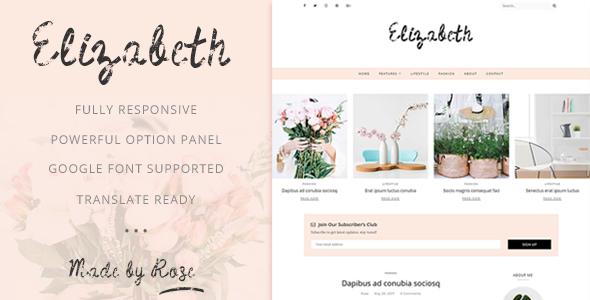 Test du thème WordPress Elizabeth , découvrez notre avis