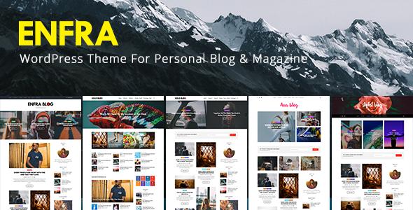 Test du thème WordPress Enfra , découvrez notre avis